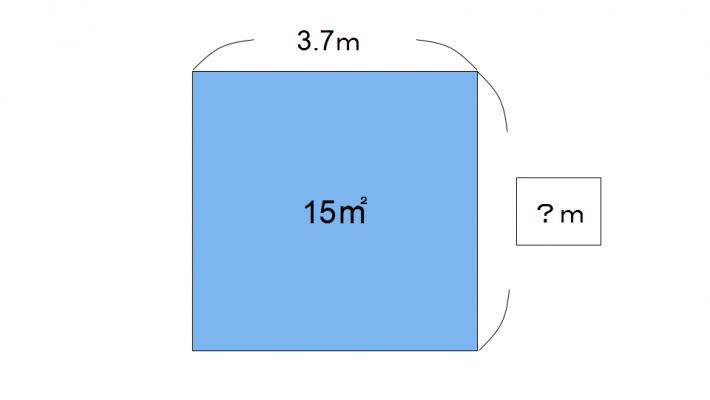 面積の辺を求める問題